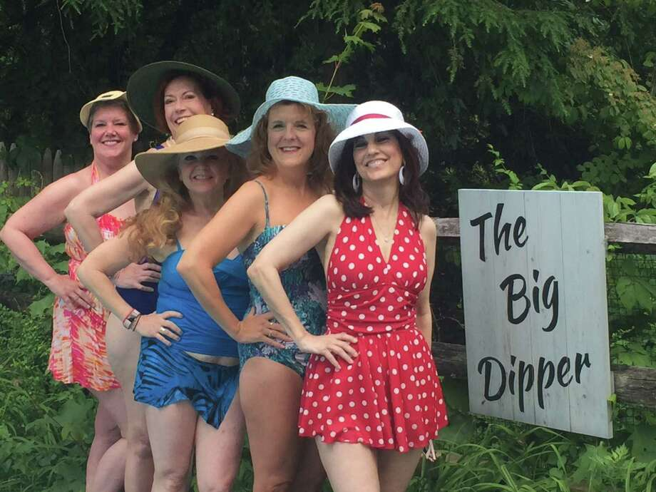 "Featured in the Town Players of New Canaan's production of ""The Dixie Swim Club"" are Kate Telfer, Ann Alford, Marcy Whitten, Janine Wolfe and Deborah Burke. Photo: Contributed Photo / Town Players Of New Canaan / New Canaan Advertiser Contributed"