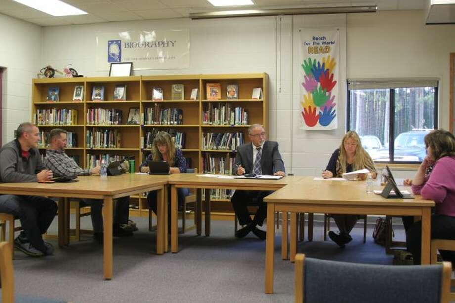 Members of the Kaleva Norman Dickson Board of Education discuss the current enrollment numbers that are up for the second straight year. Superintendent Marlen Cordes says it still is too early to be overly optimistic because the official count does not occur until October.