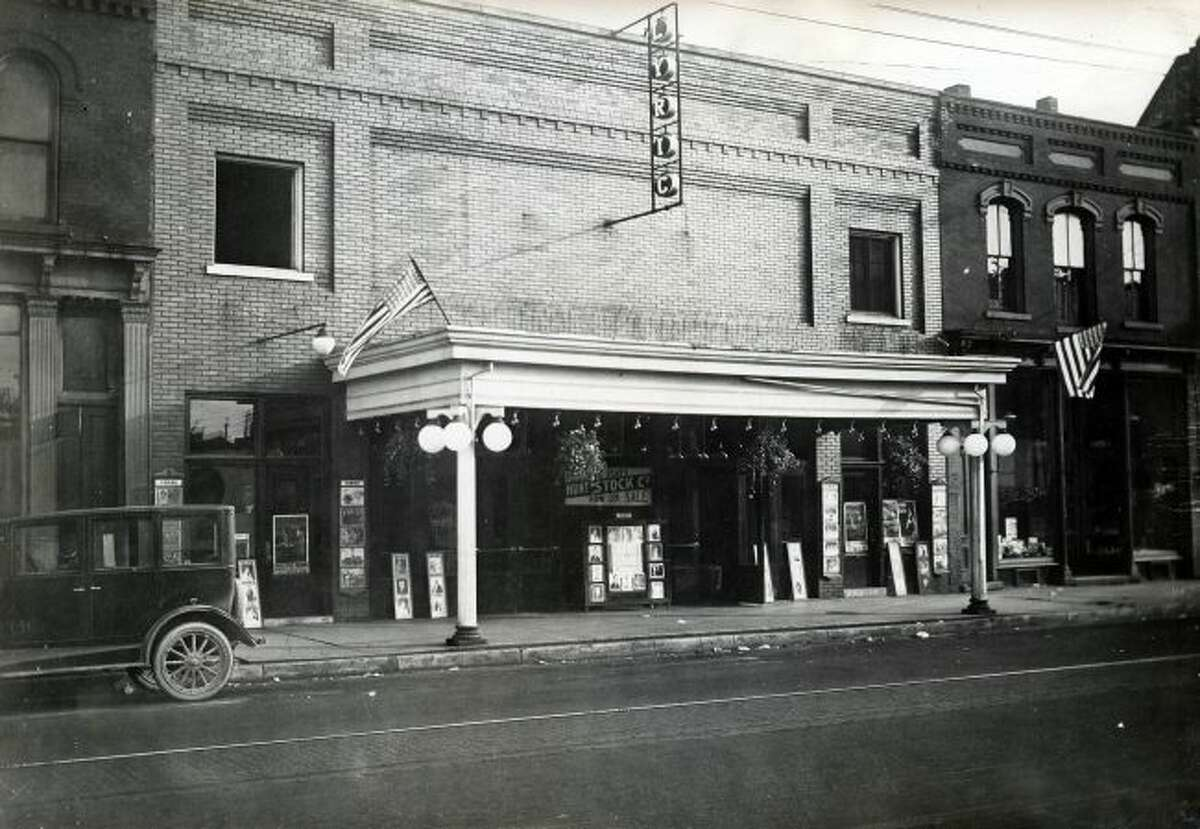 The Lyric Theatre in downtown Manistee is shown in this 1920s photograph.