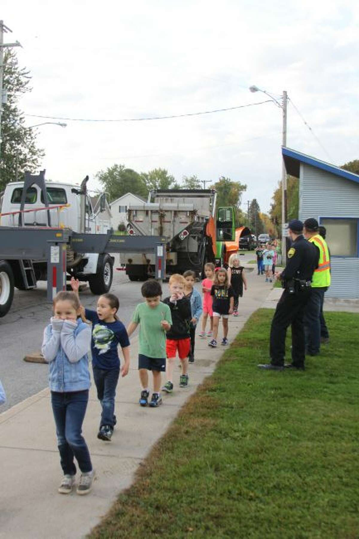 Jefferson Elementary School students held a Walkathon to raise money for field trips, playground items and things for the classrooms. Students were awarded foot charms for every lap they walked that they could attach to a chain and put on their backpack.