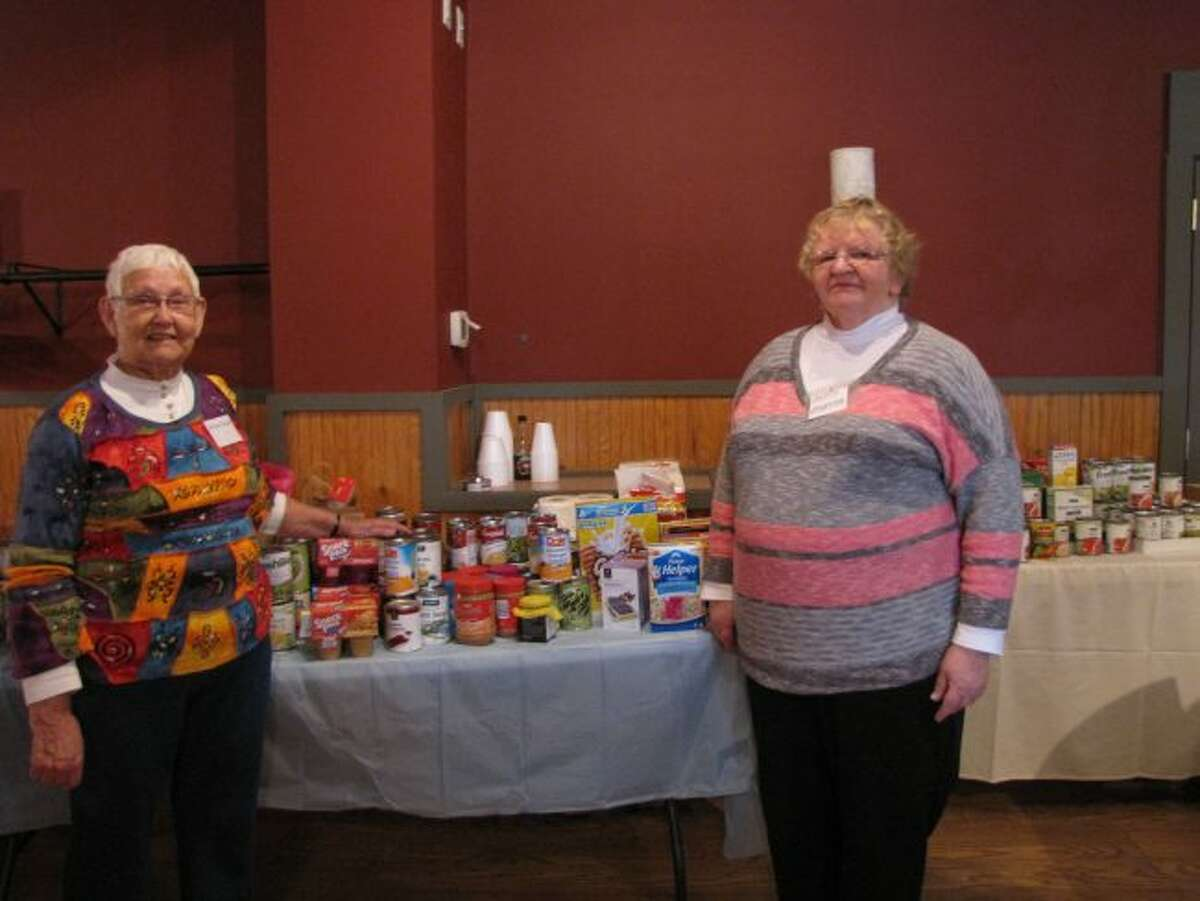 One of the many activities the local chapter of the Michigan Association of Retired School Personnel do is hold food drives for the local food pantries. They also give scholarships to classes for field trips and to college bound students.