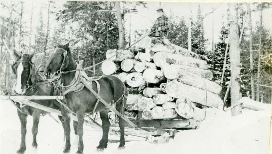 During the winter months the lumberjacks would use large sleds to haul logs out of the woods.