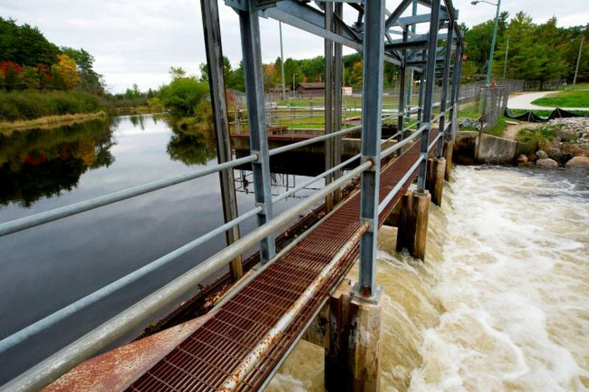 The Manistee Weir is where the chinook salmon egg harvest takes place. (News Advocate File Photo)