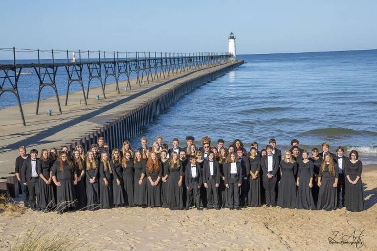 Shown is the Manistee High School Symphonic Band who will be joining the 7th and 8th grade bands in holding their Halloween concert at 7 p.m. on Tuesday at the Manistee Middle/High School Auditorium.
