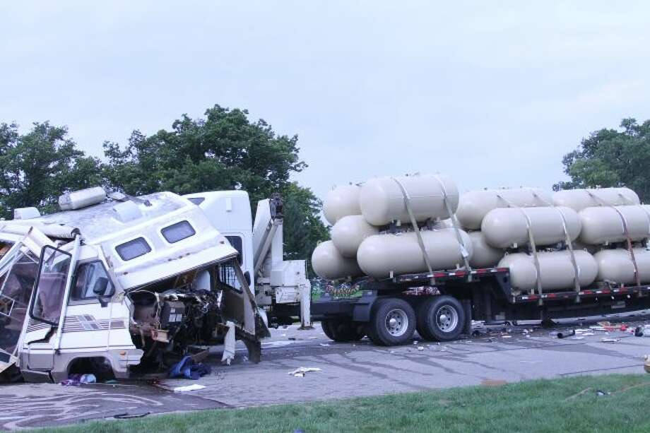 The preliminary investigation by the Manistee County Sheriff's Office of a collision Friday on U.S. 31 and M-22 indicates it may have been caused by a failure to yield by the driver of the RV that crashed into a semi-trailer truck.