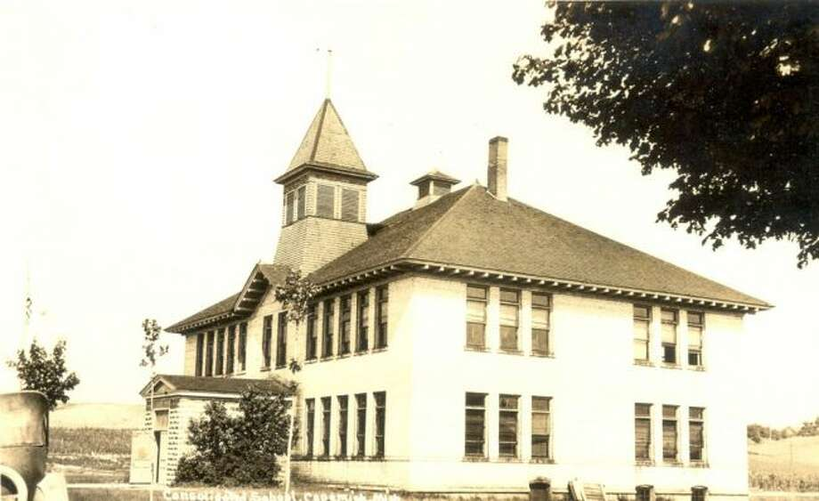 The Copemish School is shown in this late 1920s photograph.