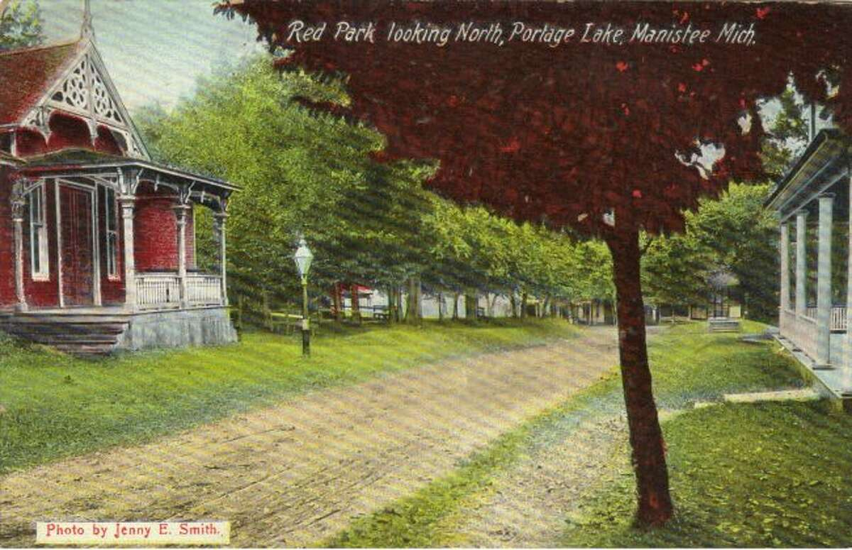 Red Park in Onekama is shown in this early 1900 depiction.