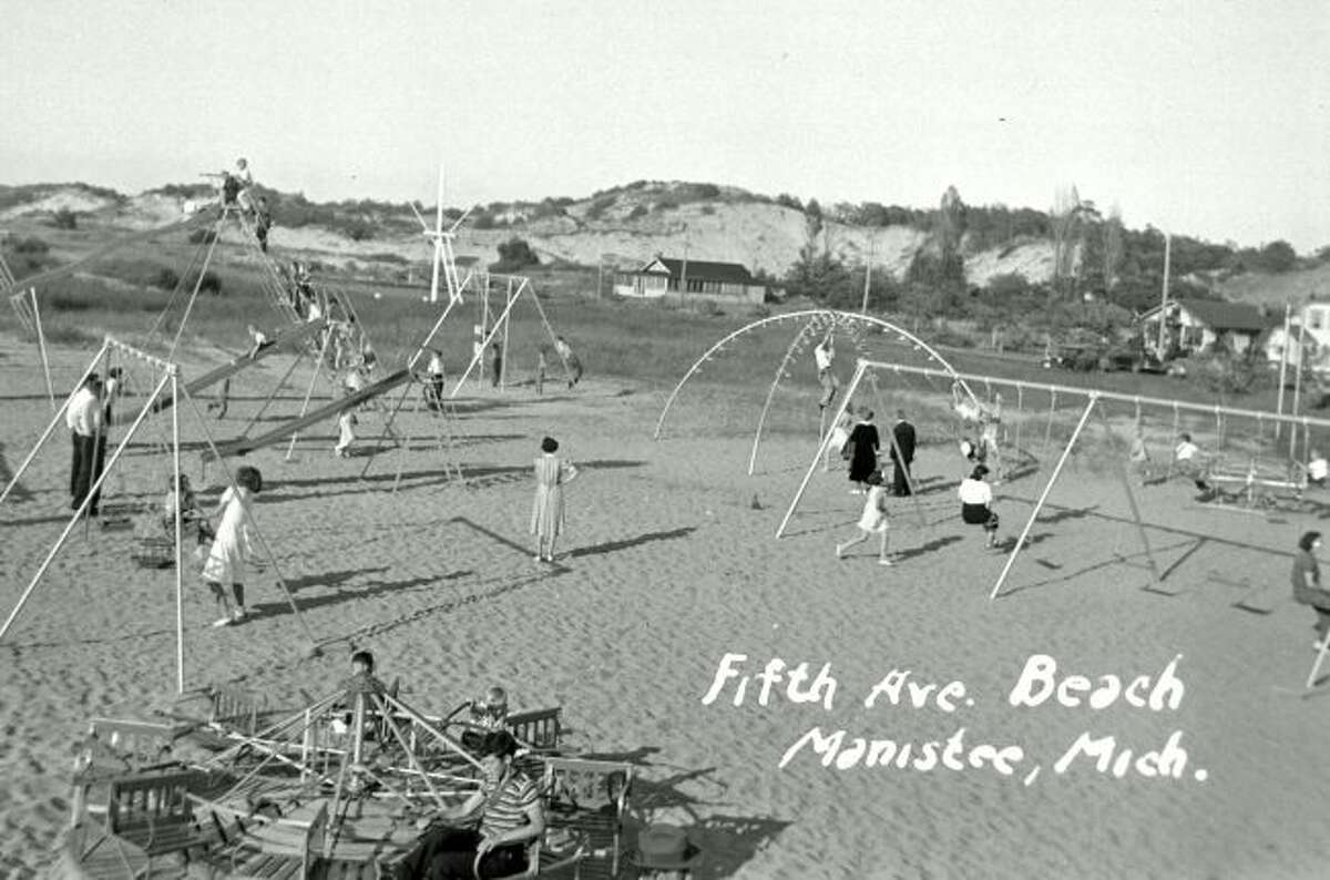 The Fifth Avenue Beach playground and area surrounding it looked much different in this 1940s photograph.