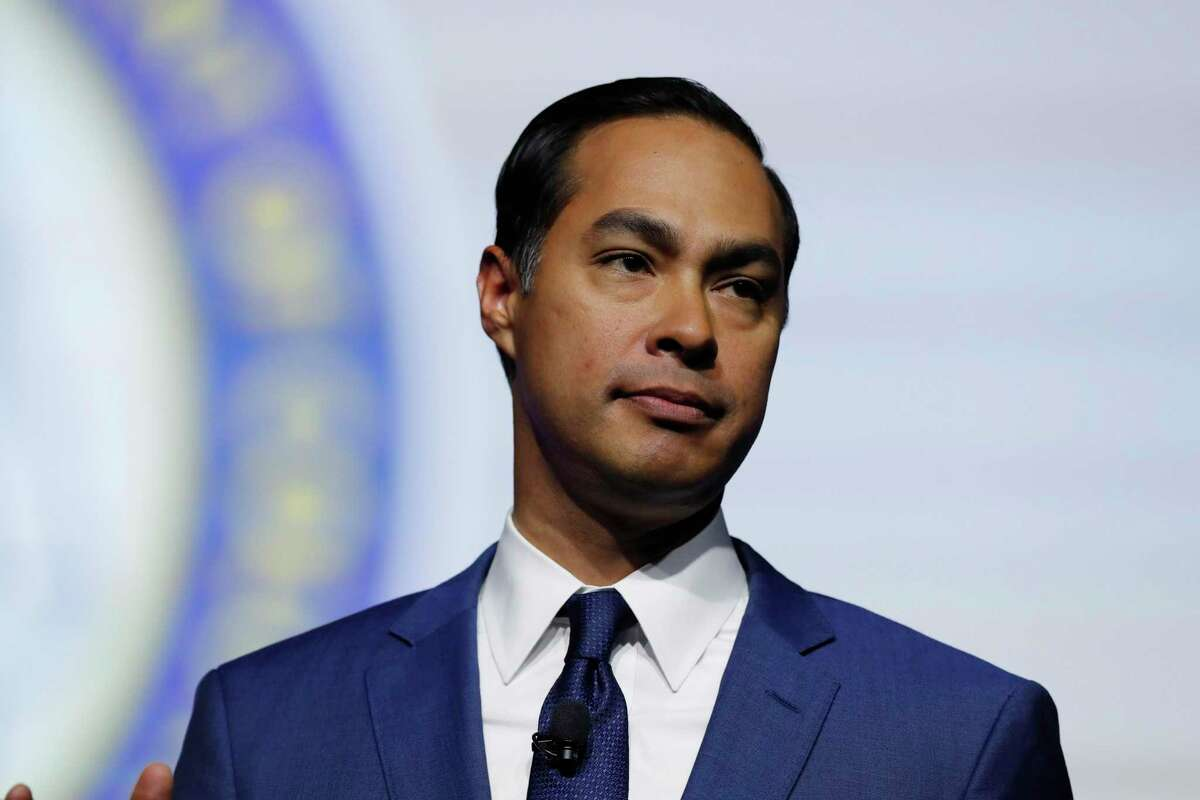 Democratic presidential candidate and former HUD Secretary Julian Castro, speaks during a candidates forum at the 110th NAACP National Convention, Wednesday, July 24, 2019, in Detroit. (AP Photo/Carlos Osorio)