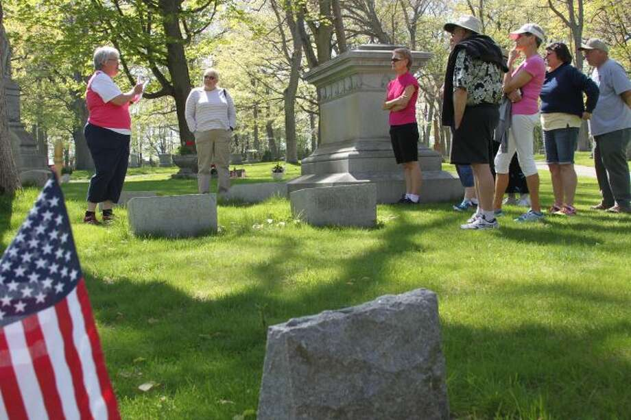 The popular Oak Grove Cemetery Walking Tour will take place over the next several weekends. This Saturday and Sunday walks will be taking place at 4 p.m. Susan Lund-Coyle will be leading the walks again this year and she is shown leading one of the previous year's events.