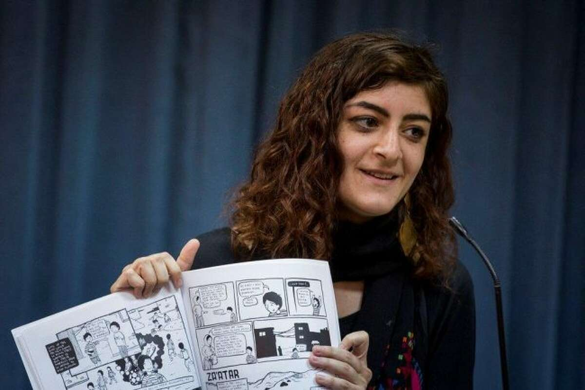 Detroit based Palestinian graphic artist and author Leila Abdelrazaq, a Detroit-based Palestinian will be showing her work as part of the West Shore Community College's HUMANKIND series examining the Middle East.