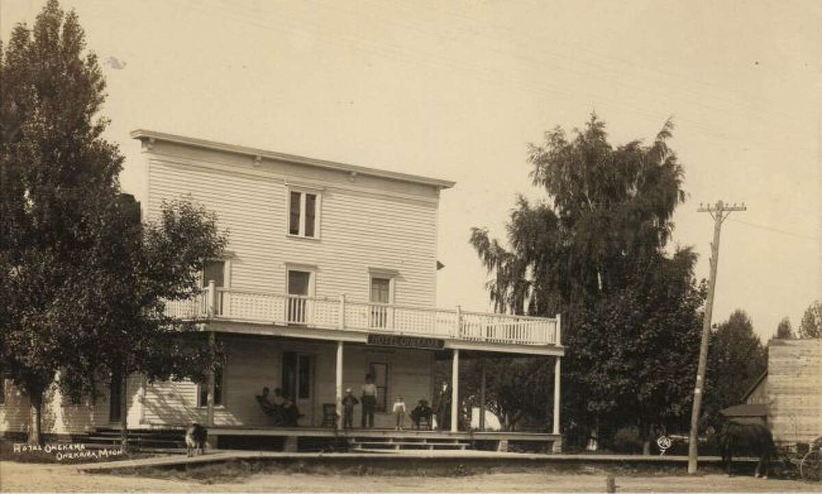 This 1890s photograph shows the popular Hotel Onekama that was one of the popular places for people to stay in Onekama at that time.
