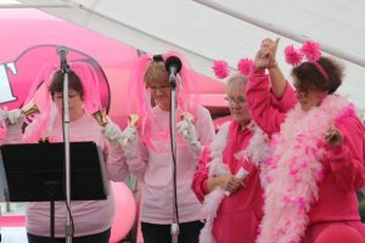 Paint the Town Pink offered a show of support for all those affected by cancer during the event on Thursday.