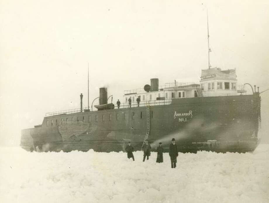 It wasn't uncommon during the winter months for ships to get stuck in the ice off the Manistee shoreline in the 1890s.