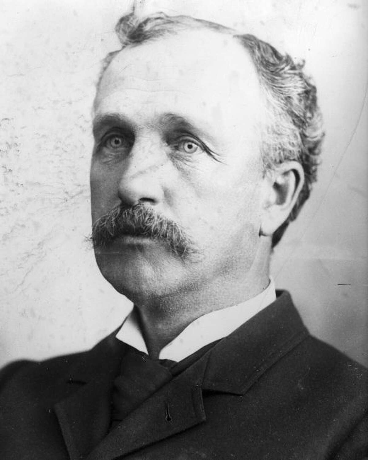 Judge A.V. McAlvay presided over the matter of dissolving the injunction suit that had delayed the paving of a large stretch of city streets in 1902.