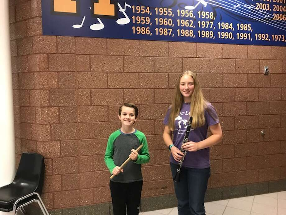 Manistee Middle School students Jack O'Donnell and Emily Sullivan both auditioned and earned positions in the 2019 Michigan State Band and Orchestra Association All State Band. Emily is in the eighth grade and Jack is in the seventh grade. The Manistee High School, eighth Grade, and Jazz Band Concerts for the holiday season is on Dec. 13.