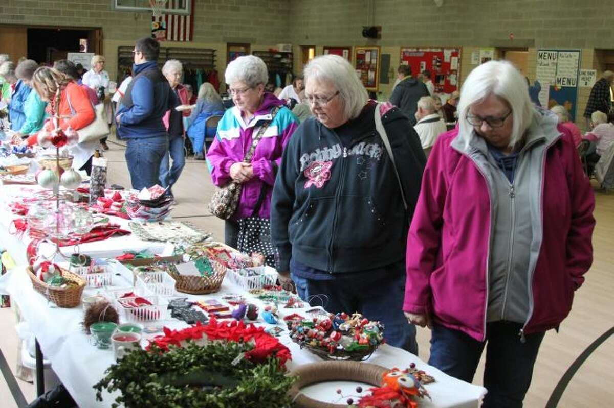 The Trinity Lutheran Ladies Society Harvest Bazaar drew large crowds on Saturday. Besides having many homemade items to sell, the bazaar also featured their famous German potato salad lunch.