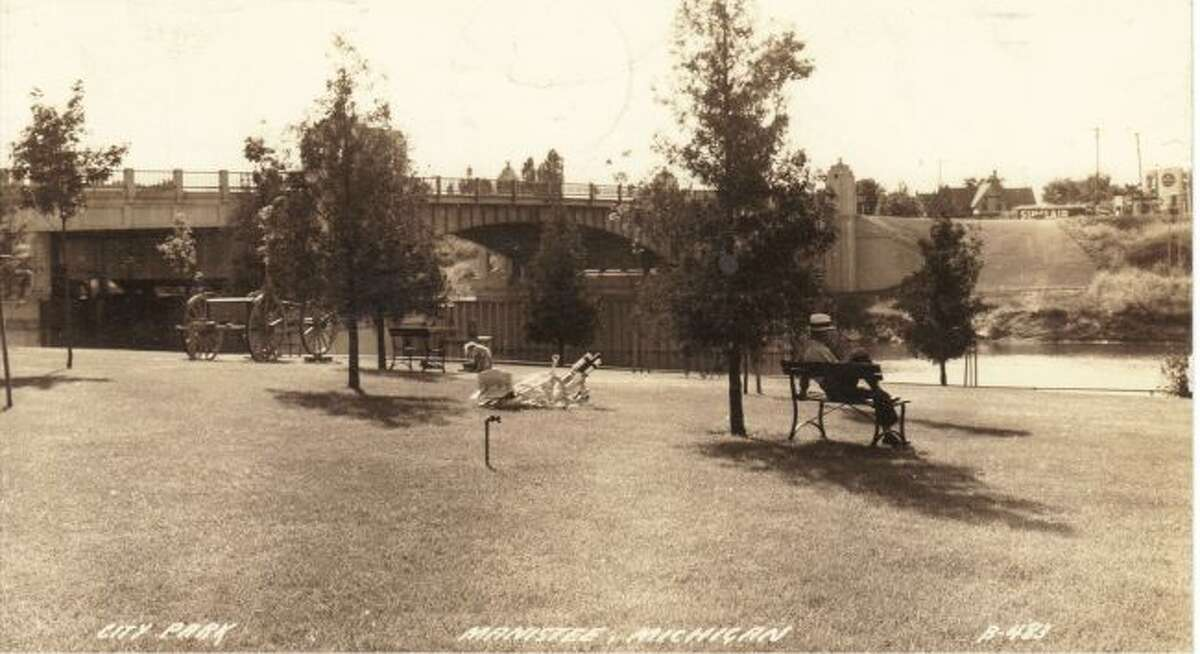 Douglas Park that was located just east of the U.S. 31 Bridge is shown in this 1920 photograph.