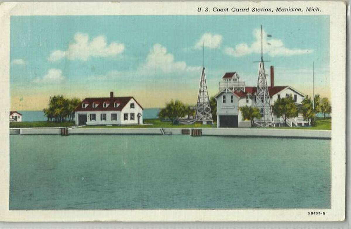 This view shows what Coast Guard Station Manistee looked like in the early 1960s.