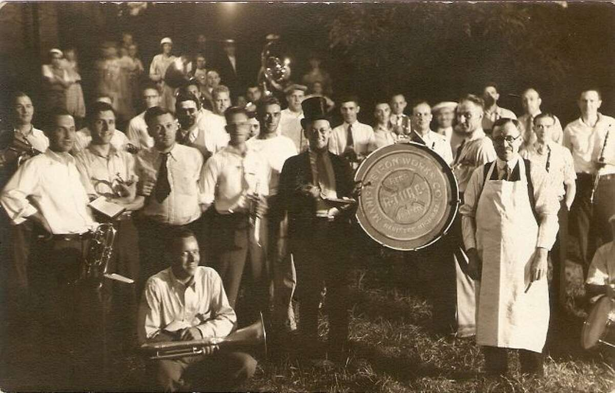 The Manistee Iron Works Band was one of the popular muscial groups who played at a variety of community functions in the 1930s.