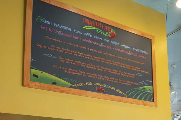 Strawberry Fields Cafe has a salad bar, and always offers a vegetable soup and a few vegan side dishes.