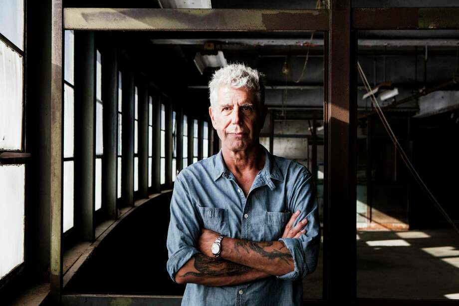 "Anthony Bourdain on Pier 57, where he was planning to open Bourdain Market, in New York. The chef's book, ""Typhoid Mary,"" is mostly abandoned by those who argue over his best books, but it deserves a second look. Photo: ALEX WELSH, STR / NYT / NYTNS"