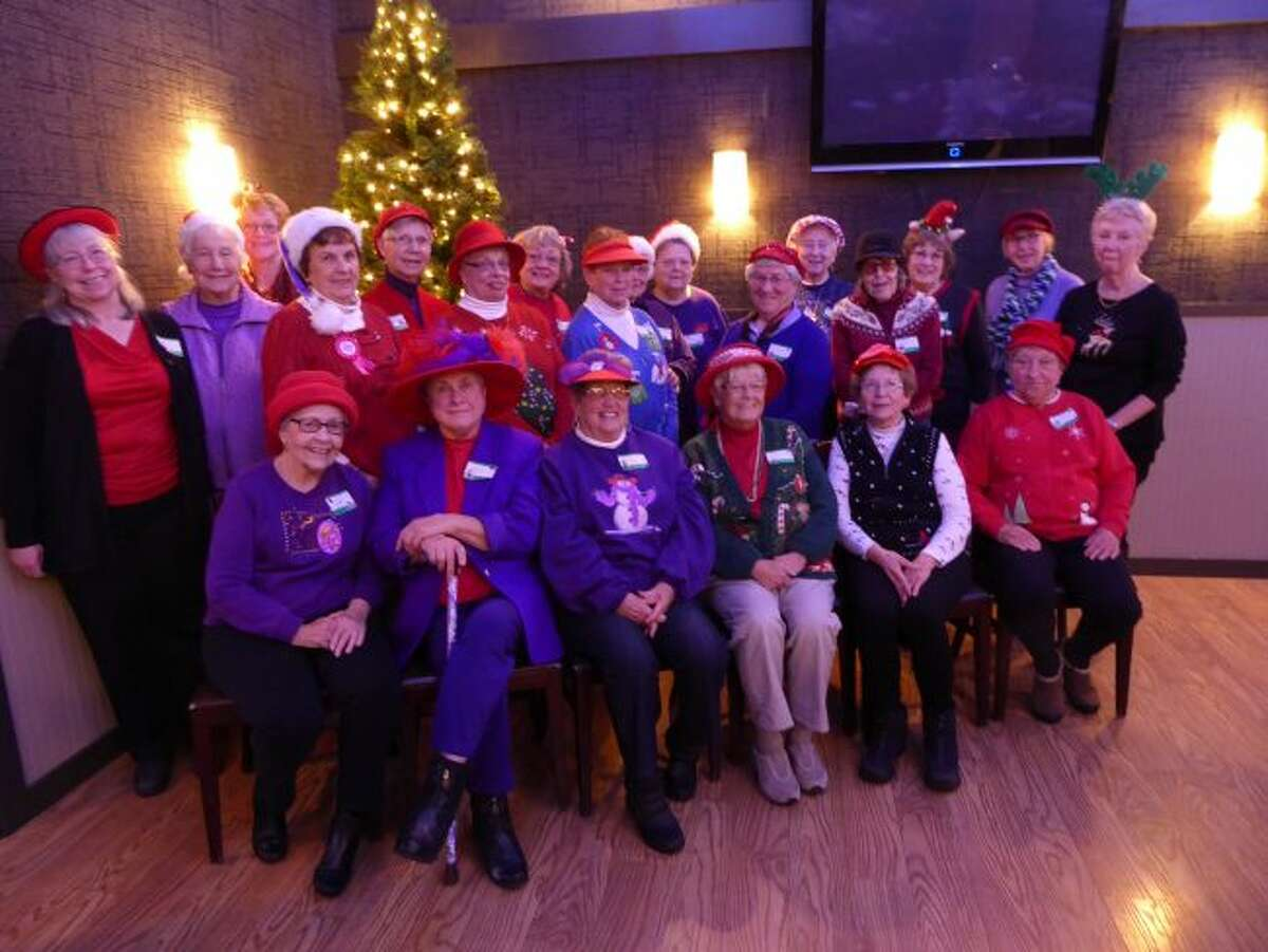 The Classie Lassies, members of the international Red Hat Society, recently gathered for their annual Christmas/Anniversary luncheon at the Bungalow Inn in Manistee. The Lassies have been together, having fun, for 13 years. A delightful lunch, a game of Christmas Trivia, singing carols were enjoyed.
