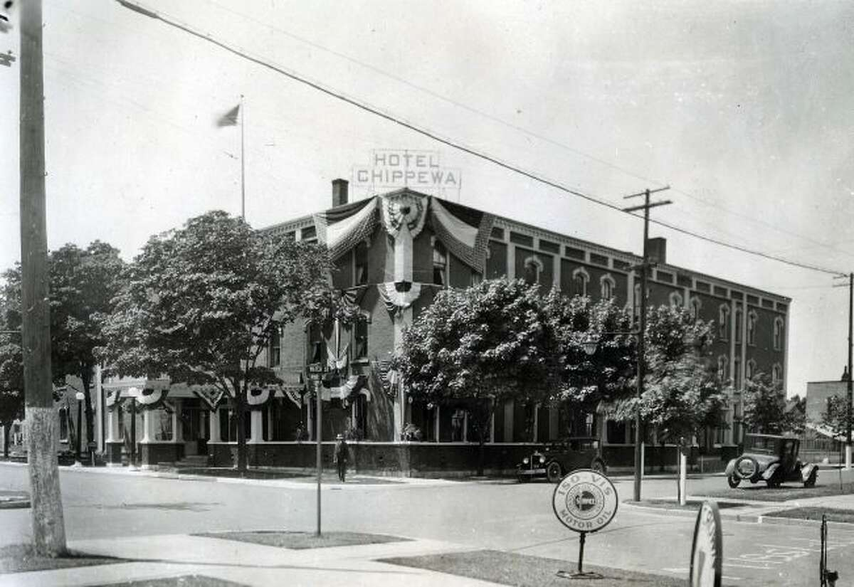 The Hotel Chippewa was a real first class hotel as shown in this 1920s photograph.