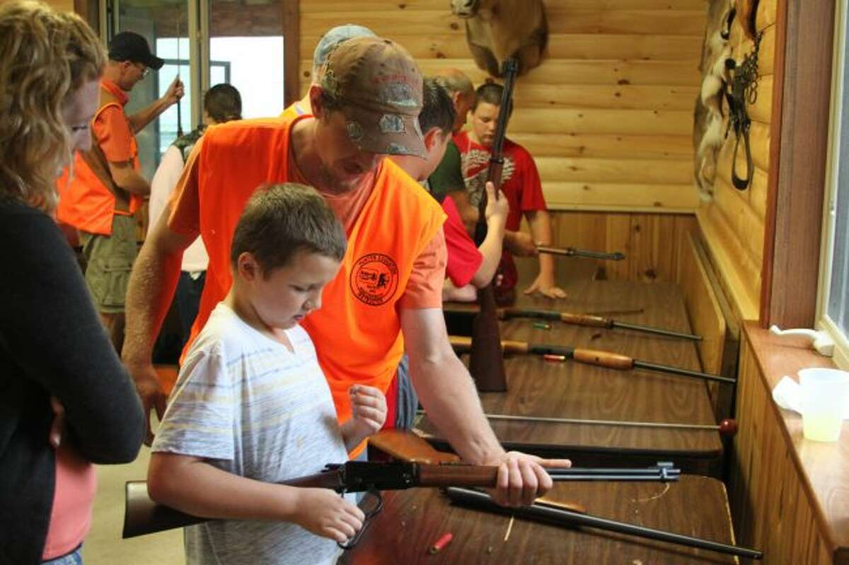 All of the instruction at the Big Bear Sportsman's Club in the proper use of firearms was done under the watchful eye of club members. Students took the class to gain hunter certification so they will be able to obtain a hunting license this year.