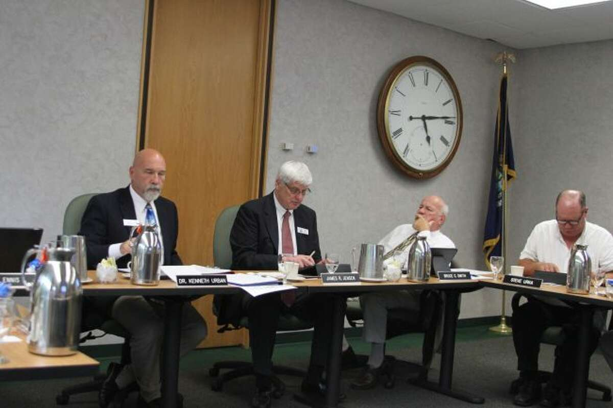 Members of the West Shore Community College Board of Trustees heard a report that enrollment numbers are on the rise .