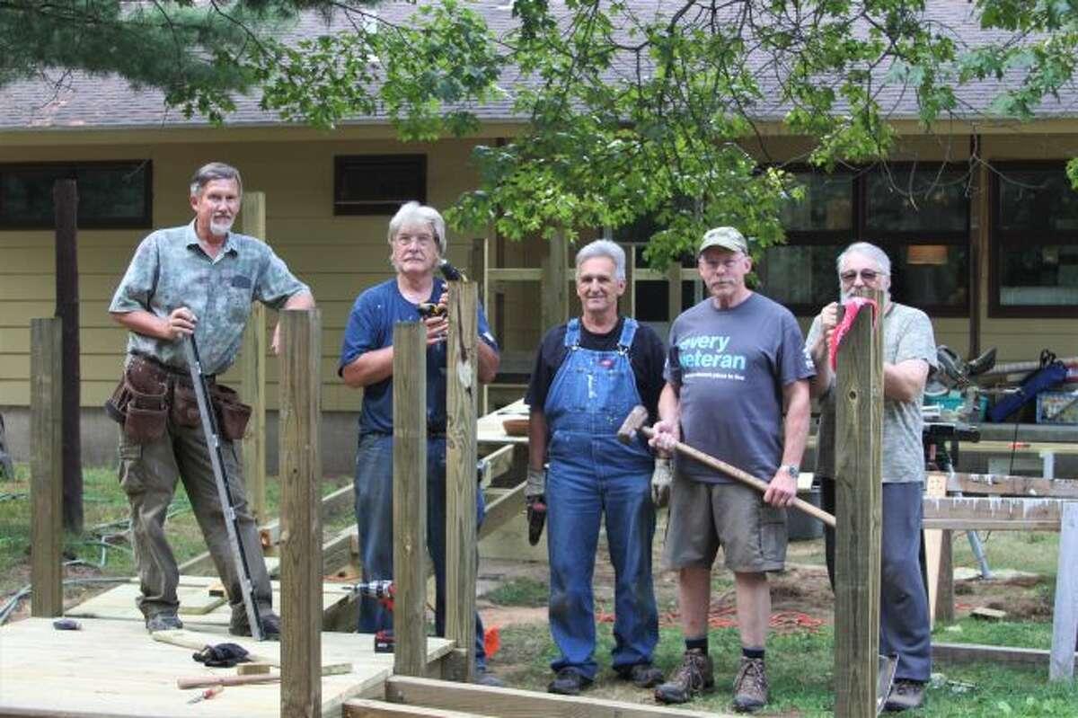 Pictured (from left to right): Bruce Fredrickson, Paul Glaser, Ken Warren, Steve Rogers and Jerry Januzzi. (Ashlyn Korienek/News Advocate)