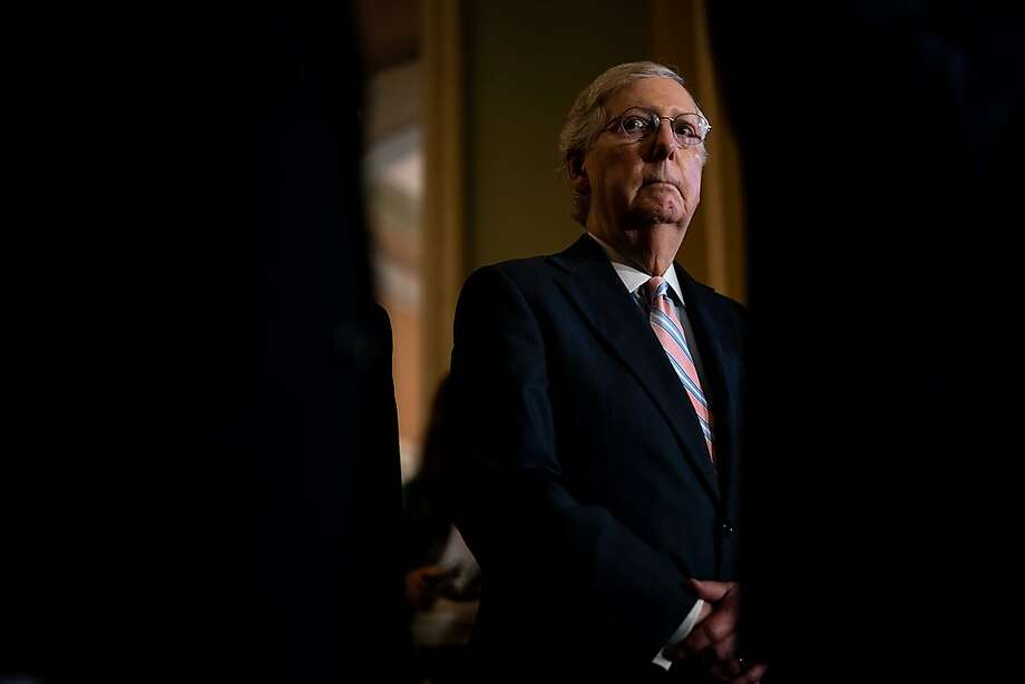 Senate Majority Leader Mitch McConnell on Capitol Hill last week. Photo: Erin Schaff / New York Times