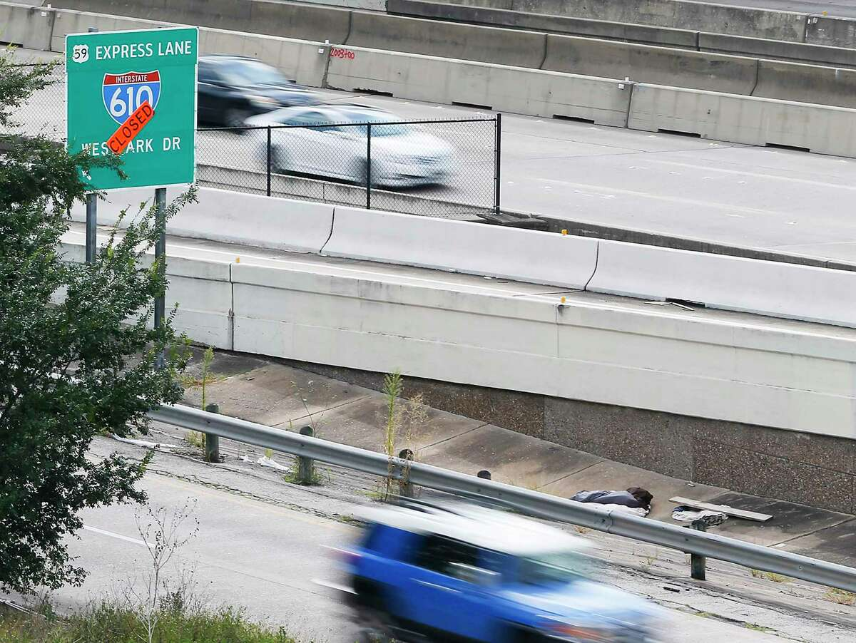 Traffic moves northbound along Interstate 69 just past the Loop 610 interchange in Houston on July 11, 2019.