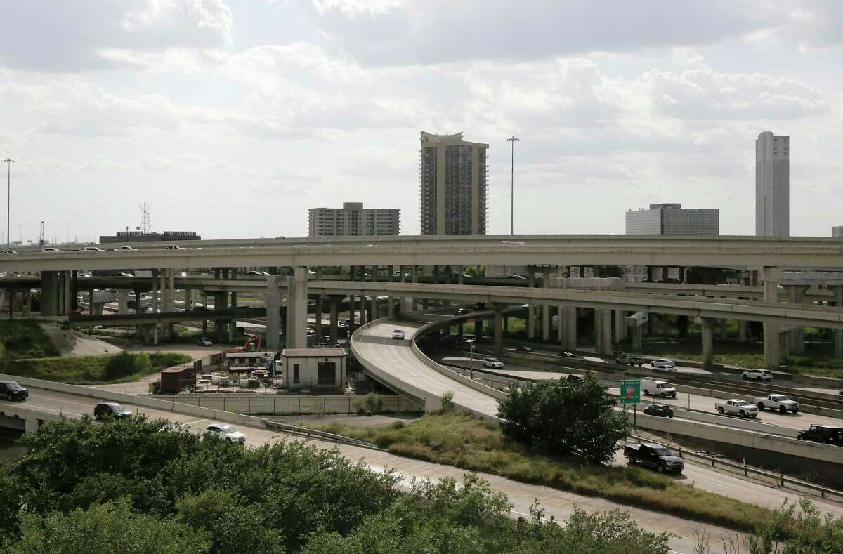 Construction continues on the Interstate 69 and Loop 610 interchange in Houston on July 11, 2019.