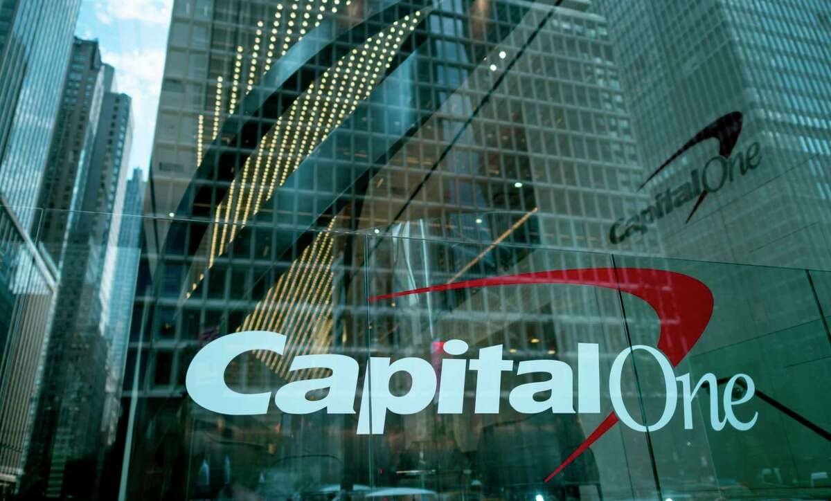 The Capital One Bank Headquarters is pictured on July 30, 2019 in New York City. A hacker accessed more than 100 million credit card applications with Capital One in one of the biggest data thefts to hit a financial services company. FBI agents arrested Paige Thompson, 33, a former Seattle technology company software engineer, after she boasted about the data theft on the information sharing site GitHub, authorities said.