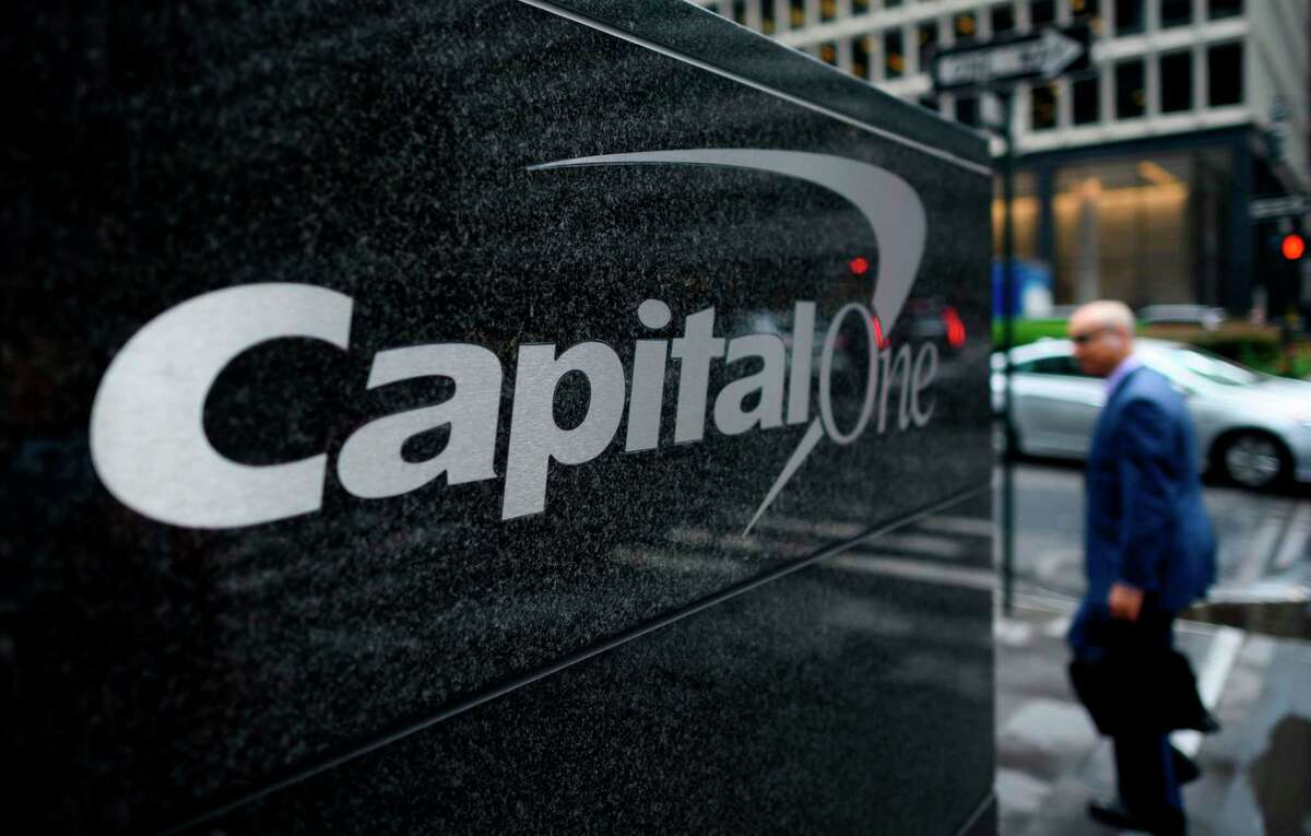 The Capital One Bank Headquarters is pictured on July 30, 2019 in New York City. - A hacker accessed more than 100 million credit card applications with US financial heavyweight Capital One, the firm said on July 29, 2019, in one of the biggest data thefts to hit a financial services company. FBI agents arrested Paige Thompson, 33, a former Seattle technology company software engineer, after she boasted about the data theft on the information sharing site GitHub, authorities said. (Photo by Johannes EISELE / AFP)JOHANNES EISELE/AFP/Getty Images