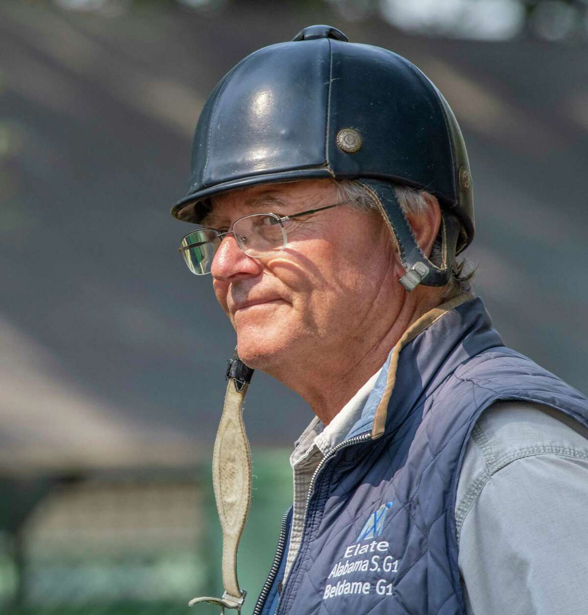 Trainer Bill Mott spoke with the Times Union July 28 2019 at the Saratoga Race Course in Saratoga Springs, N.Y. Photo Special to the Times Union by Skip Dickstein