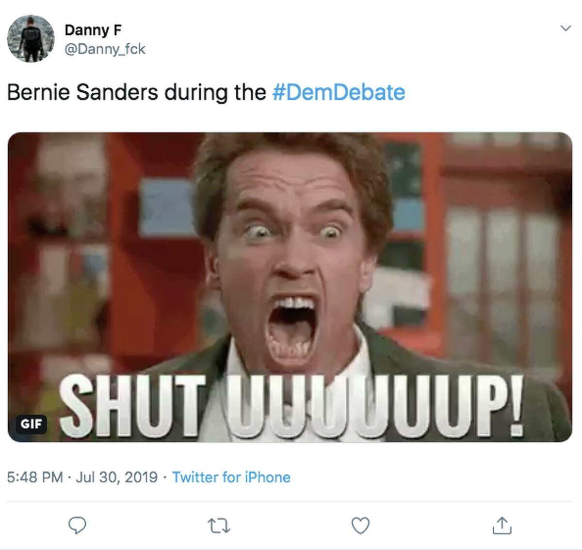 People react to U.S. Senator Bernie Sanders' performance in night one of the second Democratic debate hosted by CNN on Tuesday.