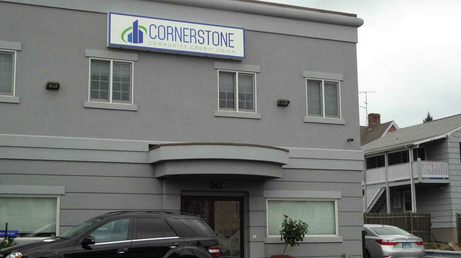 Cornerstone Community Credit Union on Hope Street in Stamford, Conn. Photo: Alexander Soule / Hearst Connecticut Media / Stamford Advocate
