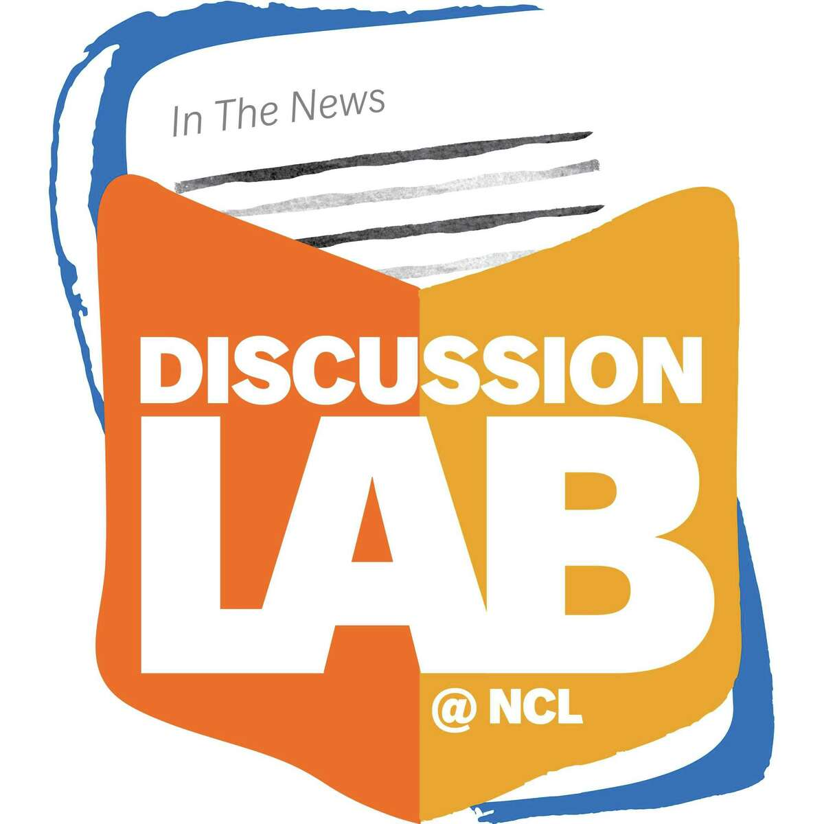 The logo for the New Canaan Library's new Discussion Lab series