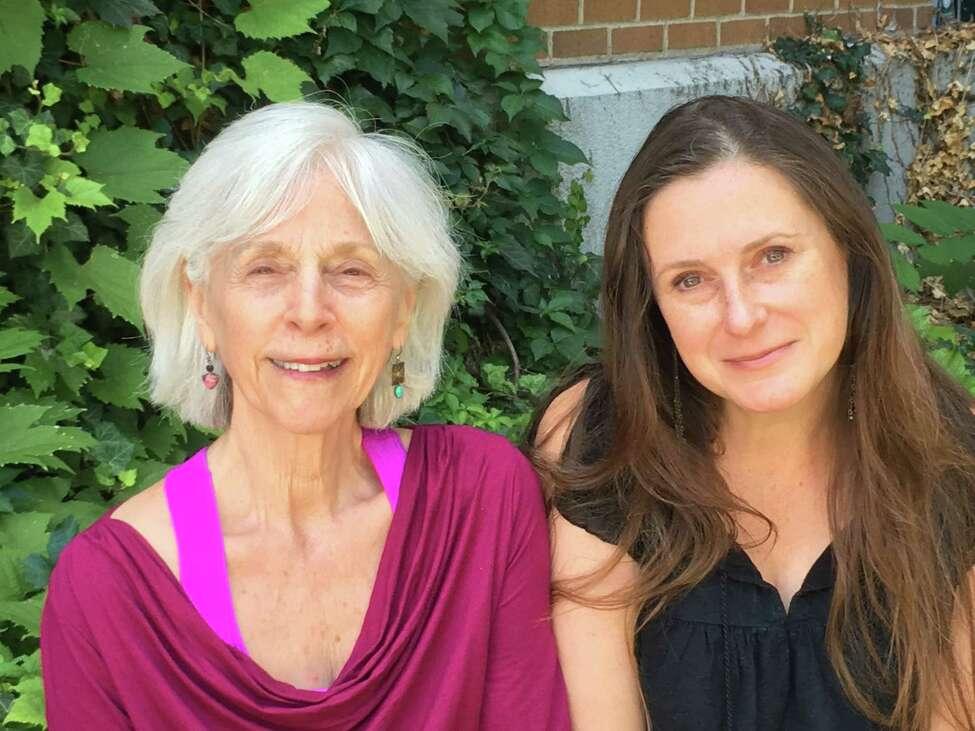 Dr. Selma Nemer, co-writer of the novella Guardians of the Treasure, with ITheatre Saratoga's director/playwright Mary Jane Hansen.(image courtesy Will Severin/iTheatre Saratoga)