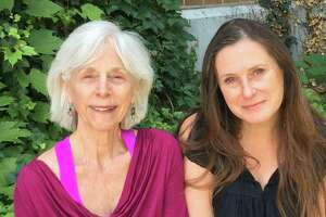 Dr. Selma Nemer, co-writer of the novella Guardians of the Treasure, with ITheatre Saratoga's director/playwright Mary Jane Hansen.(image courtesy Will Severin/iTheatre Saratoga)