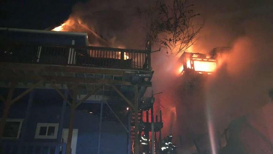 Fire burns Mt. Baker home (Seattle Fire Photo) Photo: Seattle Fire Department