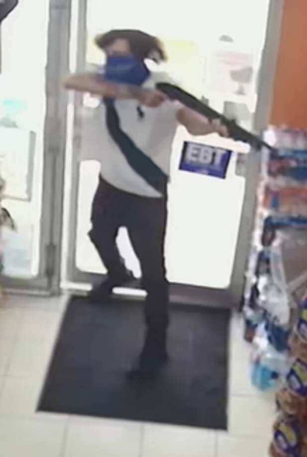 The San Antonio police need the public's help identifying a man that they said robbed a food market with a shotgun last week on the city's North Side.  Photo: SAPD
