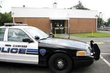 A Stamford police cruiser