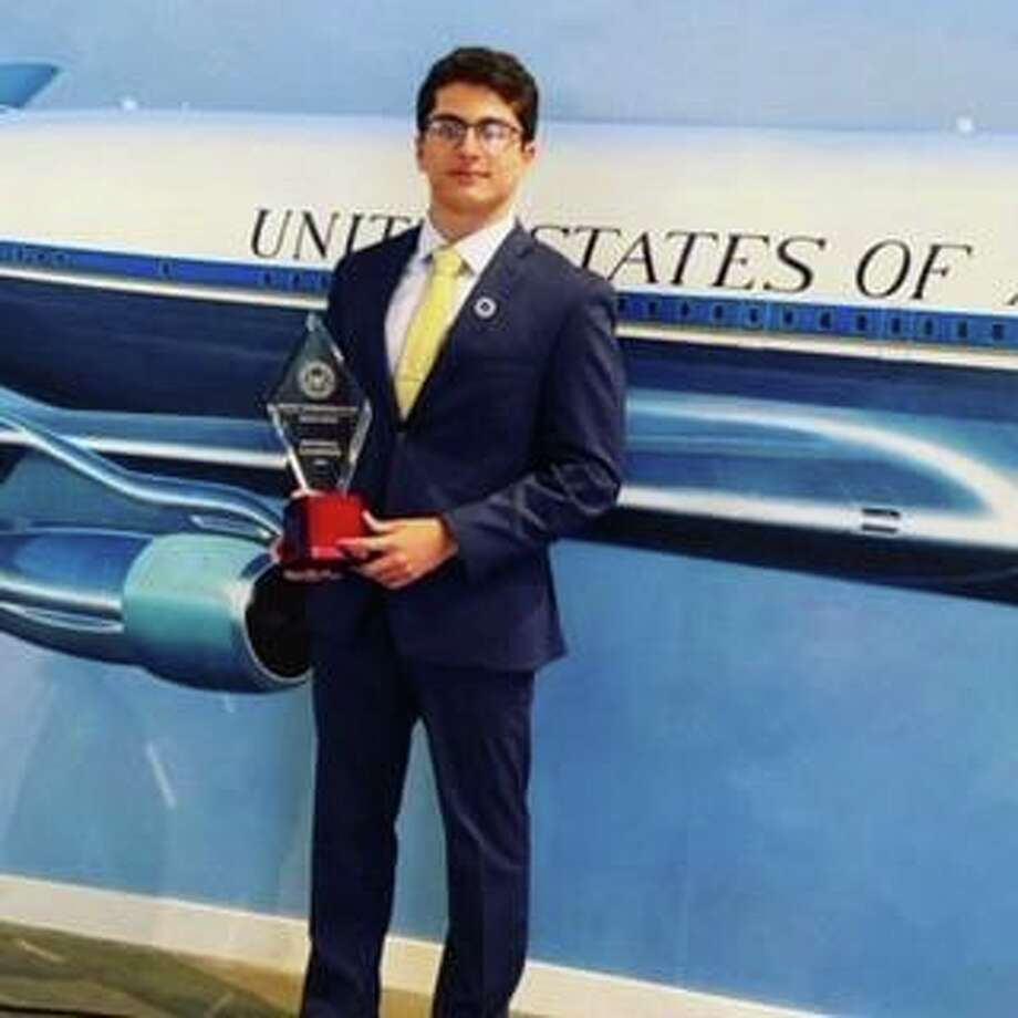 Stamford High School student Aron Ravine won first place at the Ronald Reagan Great Communicator Debate Series National Championship held at the Ronald Reagan Presidential Library & Museum the weekend of July 25. Photo: Contributed / Contributed Photo / Westport News contributed