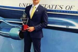 Stamford High School student Aron Ravine won first place at the Ronald Reagan Great Communicator Debate Series National Championship held at the Ronald Reagan Presidential Library & Museum the weekend of July 25.