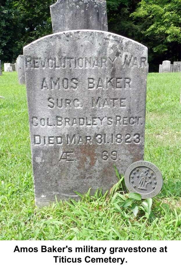 Amos Baker's gravesite in Ridgefield. Photo: Jack Sanders