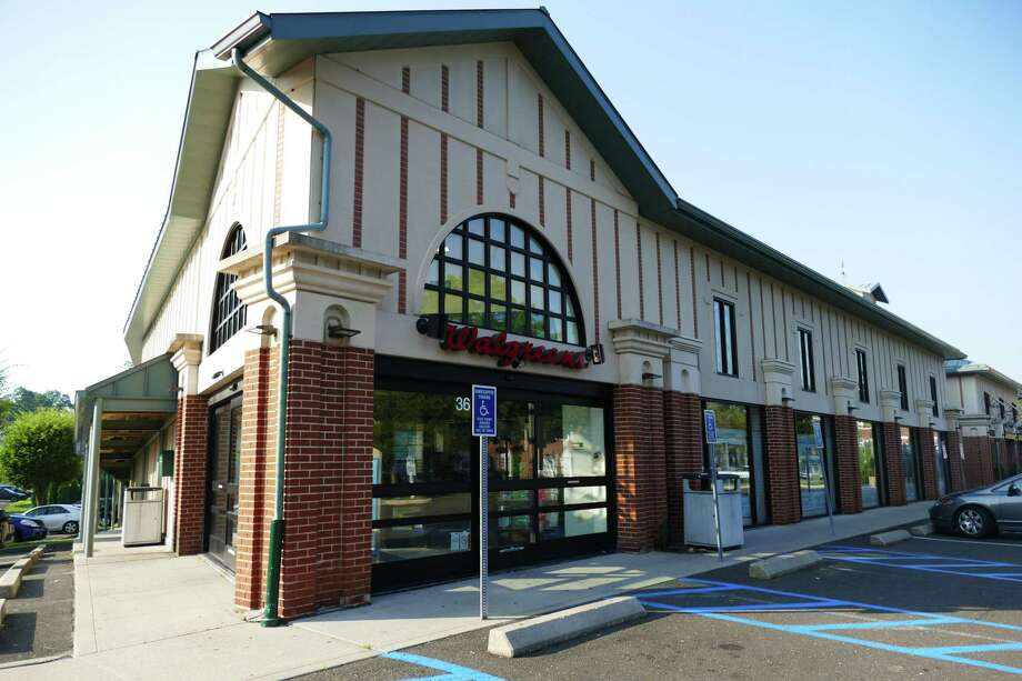 The New Canaan Planning & Zoning Commission will consider Tuesday, July 30, 2019 iframps should be installed to enable the use of 48 parking spaces underneath Walgreens on Pine Street. Photo: Grace Duffield / Hearst Media