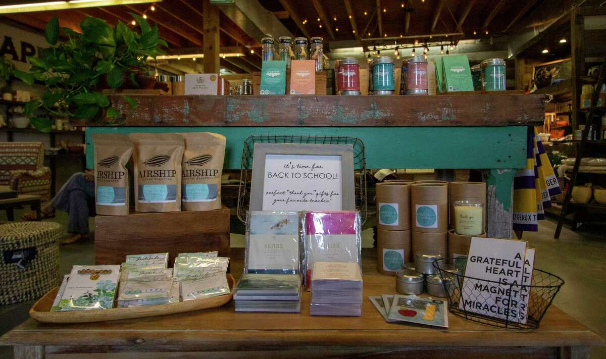 An assortment of teas, coffee and spices are seen Tuesday, July 30, 2019 at Mercy House Global Market in Magnolia.